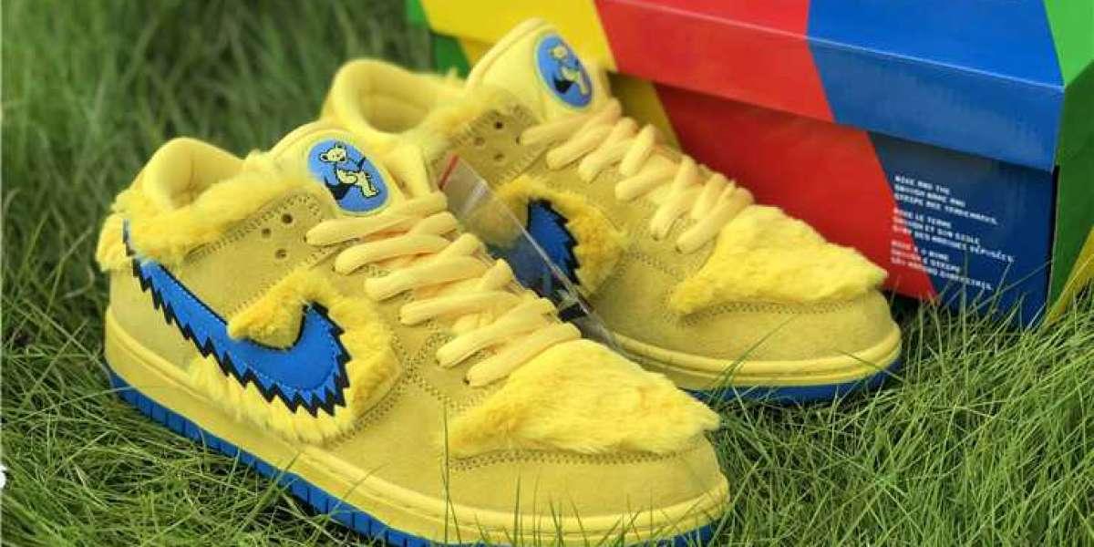 """2020 Grateful Dead x Nike SB Dunk Low QS """"Yellow"""" CJ5378-700"""