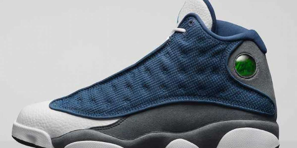 "Air Jordan 13 ""Flint"" Navy/Flint Grey-White-University Blue 2020 new 414571-404"