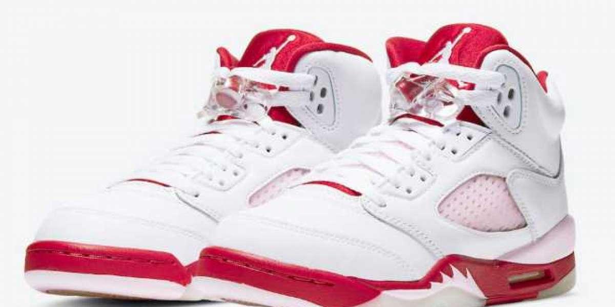 "New Valentine's Day Air Jordan 5 GS revealed! Air Jordan 5 ""Pink Foam"" 2020 440892-106 For Sale"